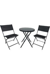Conjunto Para Área Externa Chile Com 1 Mesa E 2 Cadeiras