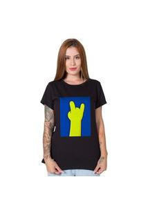 Camiseta Simpsons Hand Preto