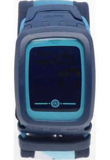 Relógio Digital Abstrato Svqn102A- Azul Escuro & Azul Clswatch