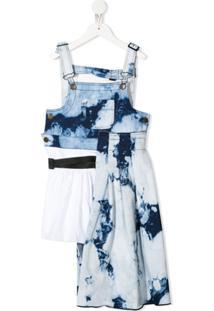 Cinzia Araia Kids Vestido Tie-Dye Assimétrico - Branco