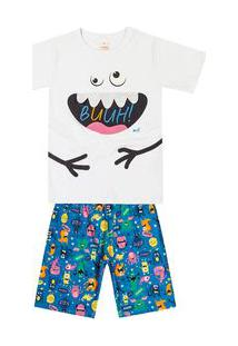 Pijama Marisol Branco Menino Pijama Marisol Branco Bebê Menino