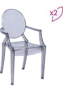 Jogo De Cadeiras De Jantar Invisible- Incolor- 2Pçs