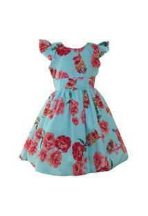 Vestido Katitus Infantil Bailarina Azul