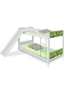 Beliche Baixa Safari Com Escorregador Casah - Branco/Verde - Menino - Dafiti