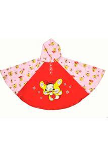 Capa De Chuva Kidsplash! Bell Fly Vermelha E Amarela