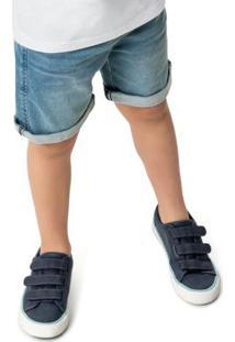 Bermuda Azul Comfort Moletom Jeans