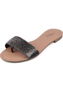Rasteirinha Trivalle Shoes Clear Preta