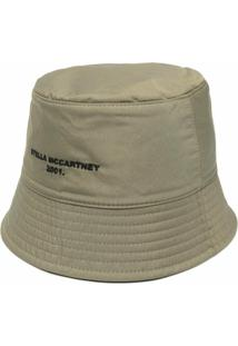 Stella Mccartney Chapéu Bucket Dupla Face Com Logo Bordado - Verde
