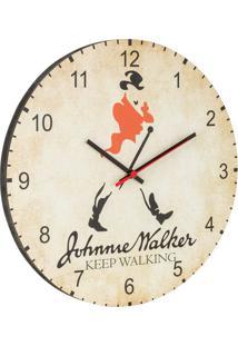 Relógio De Parede Johnnie Walker Bege