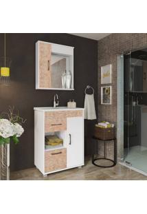 Conjunto De Banheiro Stm Moveis A46 Branco Rustico Se
