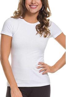 Camiseta Feminina Malwee 1000004500 00001-Branca