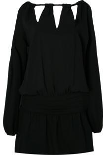 Vestido Manga Longa Le Lis Blanc Carla - Preto