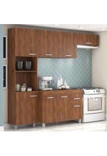 Cozinha Compacta 8 Portas 1 Gaveta Andressa 12898 Seda - Viero Móveis
