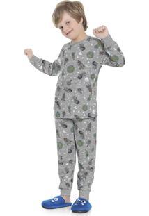 Pijama Estampado Cinza