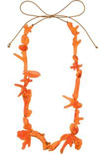 Dinosaur Designs Rockpool Coral Necklace - Laranja