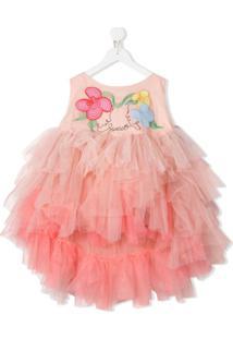 Raspberry Plum Vestido Olia Com Bordado - Rosa
