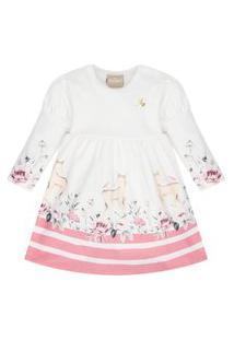 Vestido Bebê Menina Milon Off White