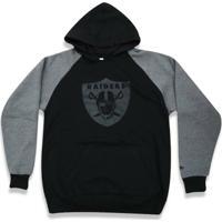 b4ffb418ba Casaco Moletom Oakland Raiders Raglan - New Era - Masculino