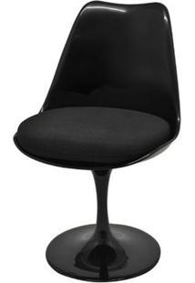 Cadeira Saarinen Sem Braco Preta Base Giratoria - 40557 Sun House
