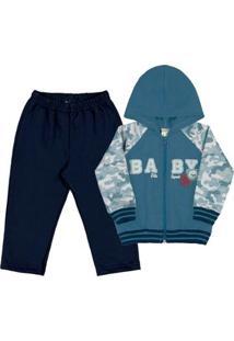 Conjunto Bebê Menino - Masculino-Azul