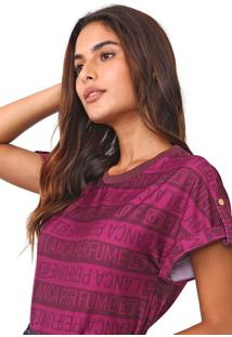 Camiseta Lança Perfume Lettering Roxa