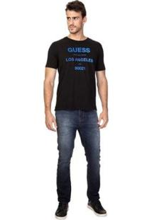 Camiseta Masc Guess Los Angeles Degrade Feminina - Feminino