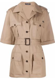 Dolce & Gabbana Jaqueta Militar Com Cinto - Neutro