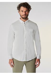 Camisa Ml Oxford Pima Leve Reserva Branca