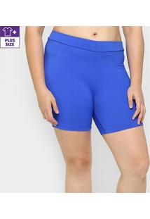 Bermuda Fila Plus Ns - Feminino-Azul