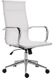 Cadeira De Escritório Presidente Giratória Eames Star Branca