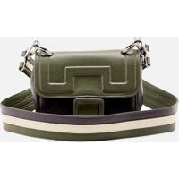 68f7f0eb5 Animale. Bolsa Leather Tricolor Verde Jardim/Marinho/Off - U
