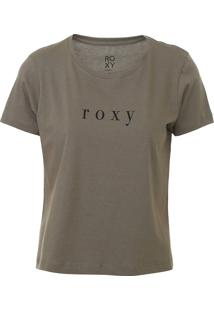 Camiseta Cropped Roxy Baschique Verde