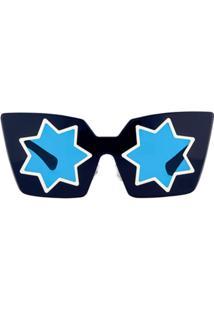 704c93fdc5c97 Linda Farrow Óculos De Sol  Markus Lupfer 10 C4  - Azul
