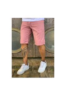 Bermuda Alleppo Jeans Veneza Rosa Escuro