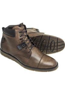 Bota Sandalo Pagani Masculina - Masculino-Marrom Escuro