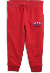 Calça Gap Infantil Logo Vermelha