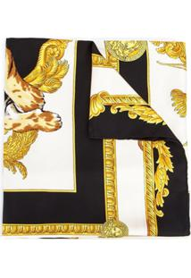 Versace Lenço De Seda - Preto