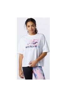 Camiseta Nb Athletics Estampa Erin Loree Casual Feminino Branco - P