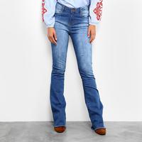 9c30a36d3 Calça Jeans Flare Mob Estonada Cintura Alta Feminina - Feminino-Jeans