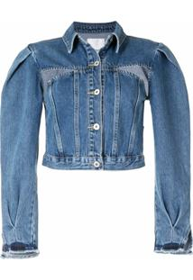 Ground Zero Cropped Denim Jacket - Azul