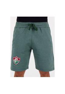Bermuda Moletom Fluminense Basic Verde