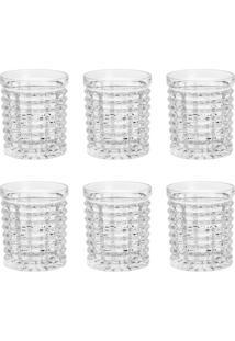 Conjunto 6 Copos Para Whisky De Cristal Diamond 220Ml Wolff
