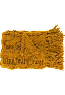 Gentry Portofino Cachecol De Tricô Com Tassel - Amarelo