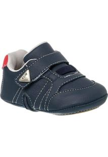 Sapatinho De Bebê Masculino Calce Fácil Klin Velcro - Masculino
