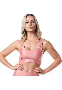Top Feminino Fitness Lighter Rosê