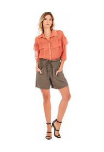 Shorts Clochard Color Verde 36