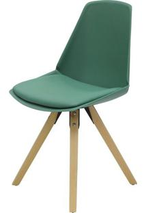 Cadeira Bomtempo Polipropileno Verde Base Madeira - 40910 - Sun House