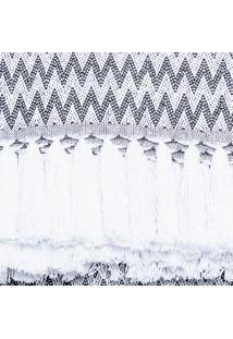 Manta Para Sofá Black & White Missoni 150X140Cm - Artesanal Teares