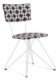 Cadeira Butterfly 0017 Preto E Branco Daf