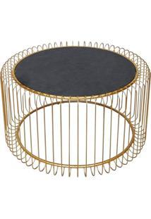 Mesa Lateral De Metal Dourado G